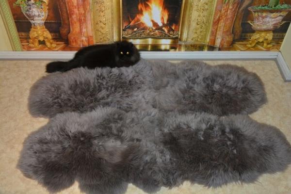 naturfell atelier pelze felle ko fellteppich 6er lammfell teppich silber grau. Black Bedroom Furniture Sets. Home Design Ideas
